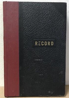 Vernon Royal lined RECORD BOOK 1960's 1970's black bound vintage office 2044