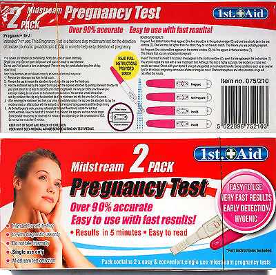 Midstream 2 Pack Pregnancy Test Easy To Use With Fast Results Home Testing Kit