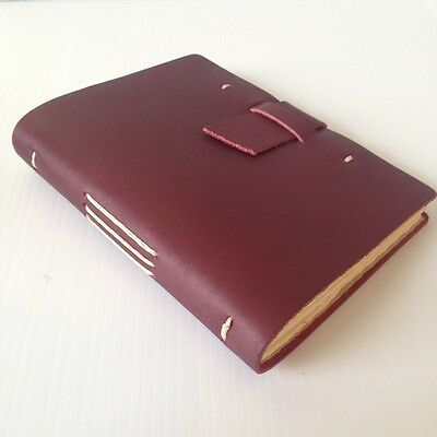 RUSTICO Parley's Journal Leather Journals Diary Notebook Gifts Burgundy Buckle