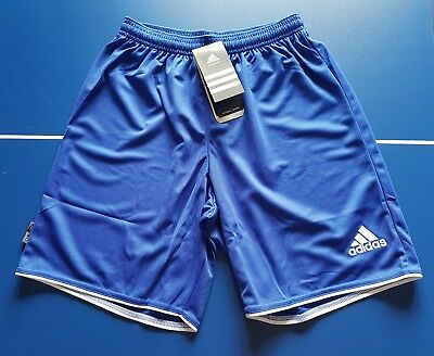Adidas Men's Football Parma Shorts - Blue - Small