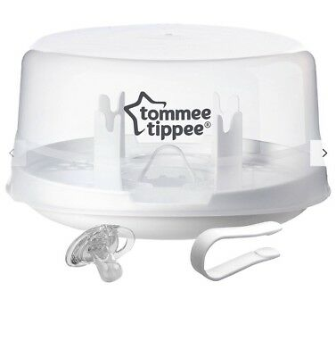 Tommee Tippee Closer to Nature Microwave Steam Steriliser Holds - 4 x Bottles