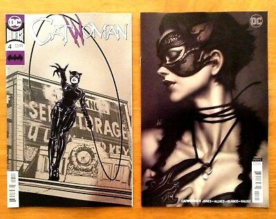 CatWoman 4 Covers A + Stanley Artgerm Lau Variant Cover 1st Print DC 2018 NM+