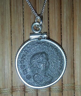 Constantine The Great Roman Authentic Ancient Coin Pendant 925 Silver Necklace