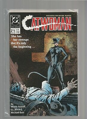 CATWOMAN #2 VF/NM of 4 1989 DC Comics Limited Series MATURE READERS COMBINE SHIP