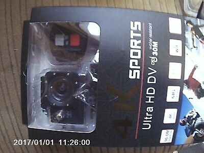 """4K 2"""" Wifi Sports Action Camera 4X Zoom 170° Wide-angle Lens with Remote Control"""