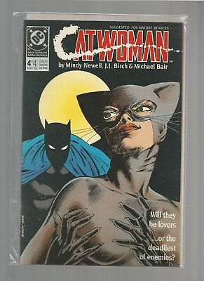 CATWOMAN #4 VF/NM of 4 1989 DC Comics Limited Series MATURE READERS COMBINE SHIP