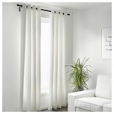 Ikea Merete Curtain Panels 1 Pair 57 X118 White Extra