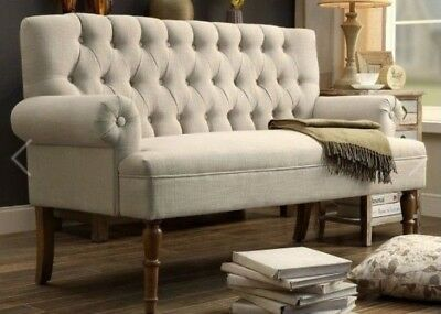 Leisure Chair Alton Button Tufted Upholstered Loveseat