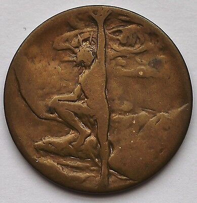Pan-American Exposition, Buffalo, Ny, Official Brass Medal So-Called Dollar Scd