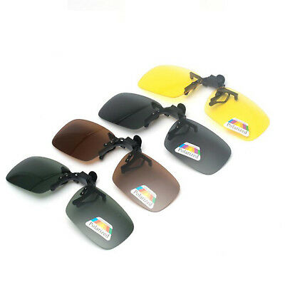 2a9741b1df Clip-on Polarized Day Night Vision Flip-up Lens Driving Glasses Sunglasses