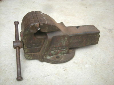 """Vintage DAWN 4SP  Bench Vice, 4"""" Inch Wide Jaws, AUSTRALIA - Engineering..."""