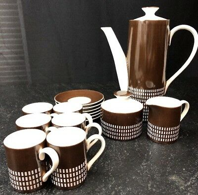 Espresso Coffee Set Harmony House Set For 6 Made in Japan 17 Pieces