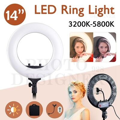 80W 5500K Dimmable Diva LED SMD Ring Light Diffuser Light Stand Make Up Studio