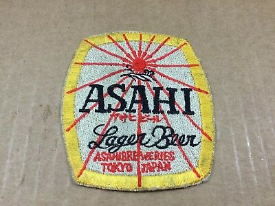 Asahi Japanese Lager Beer Embroidered Shoulder Patch - RARE