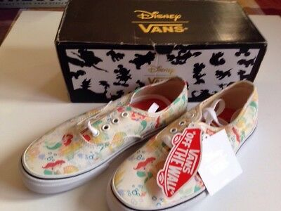 b3674b33b5f9 VANS DISNEY PRINCESS Ariel the little mermaid shoes Youth size 3 NWT ...