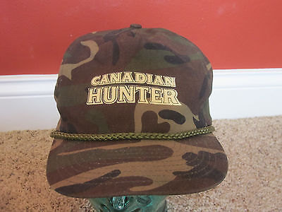 Vintage Seagrams Canadian Hunter Whisky Hat Cap Camouflage Camo Size snapback