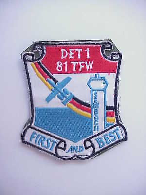 UNIFORM WORN DET1 81st Tactical Fighter Wing A-10 Warthog Sembach Germany Patch