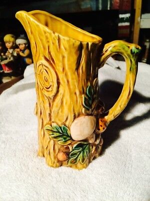 Vintage 1970 Geo Z Lefton Mushroom Forest Small Pitcher #6466