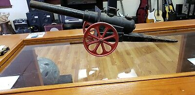 Large Vintage Cast Iron Big Bang No. 15 Cc Charger Toy Cannon 24 Inches