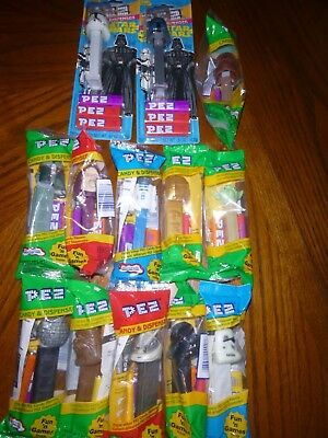 Vintage Pez Dispenser Star Wars lot of 12 plus alternate Chewbacca as bonus
