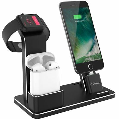 3 in 1 Charging Dock Stand Charger For iPhone Xs Max Xr X 8 7 Apple Watch Airpod