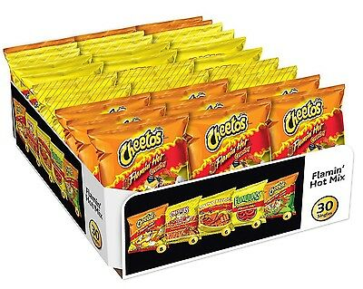 30 X Flamin Heiss Mix Cheetos, Chester, Funyuns Individuell Taschen Chips