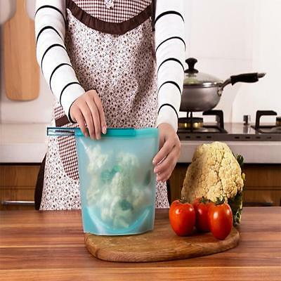 Reusable Silicone Sealer Bags Vacuum Food Storage Bags Refrigerator Container YI