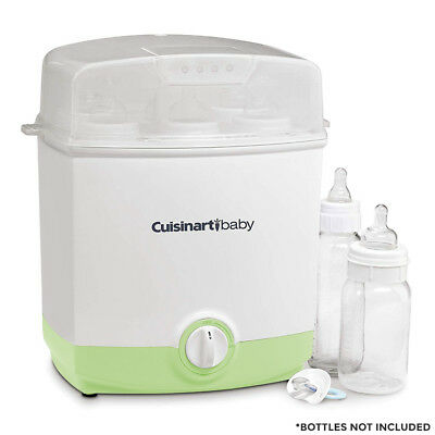 Baby Bottle Steam Sterilizer Cuisinart 6-Bottle Electric BPA Free Green or Pink