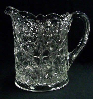 """Rare Size 1920s McKee Glass """"Rock Crystal"""" One Quart Milk Pitcher, REDUCED!"""