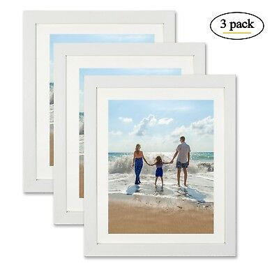3 Pack Lot Black 11x14 Picture Photo Frames Picture Frames 8x10