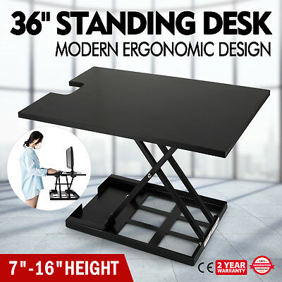"HEIGHT ADJUSTABLE DESK Standing Up Ergonomic SIT to STAND Workstation 36"" Area"