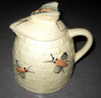 Vintage Ceramic Bee Hive Shaped Honey Pot Collectable