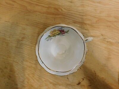 Royal Albert Teacup & Saucer Red Pink & Yellow Roses Bouquet