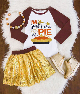 Kids Baby Girls Thanksgiving Tops Princess Party Tutu Dress Outfits Set Clothes