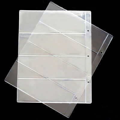 4 Pocket Currency Paper Binder Pages Holders Storage Collection Money Album Case