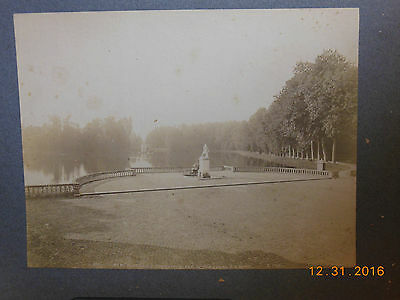 Vintage Cabinet Card 11 X14 Park at The Palace of Fontainebleau