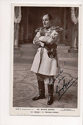 Vintage RPPC Autographed by George Graves English comic actor