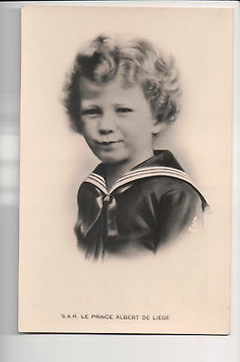 Vintage Postcard King Albert II of Belgium as a Young Child