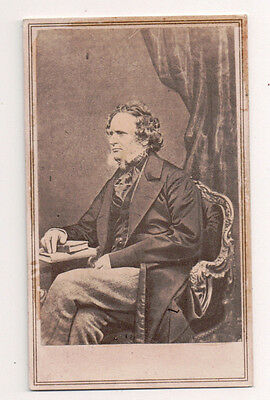 Vintage CDV Edward Smith-Stanley, 14th Earl Of Derby Prime Minister Of The UK