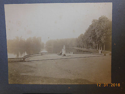 Vintage Cofanetto Carta 11 X14 Park At The Palace Of Fontainebleau