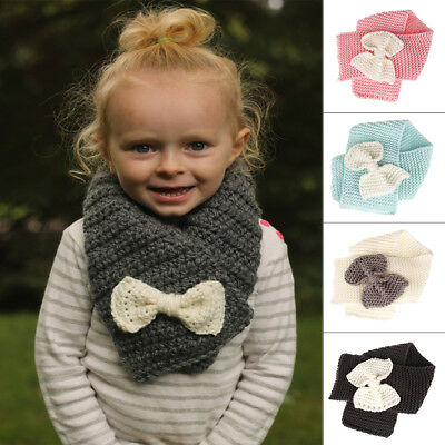 Neck Warmers Scarf Autumn Winter Warm Outfit Knitted Scarves For Kids Boys Girls