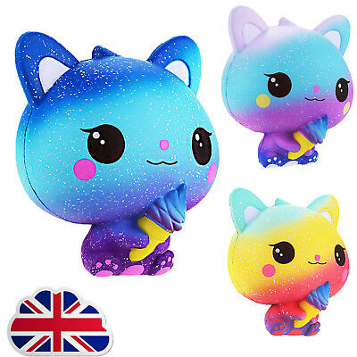 Cat Jumbo Squishies Scented Charms Kawaii Squishy Squeeze Slow Rising Kid Toy L1