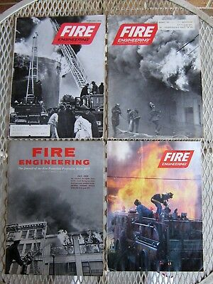 Lot Of 4 Fire Engineering Fire Fighter Magazines Book July 1962 Jun 1970 70 1981