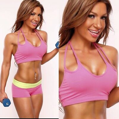 Pink Women Sportswear Gym Cover Model Set By ROGIANI! Amazing fit! Size Small!