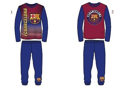 Boys Kids Children Teenage FC Barcelona Pyjamas PJ's Pyjama Set Sleepwear 4-13Y