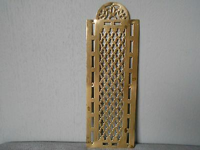 "Antique FRENCH Brass Back plate PUSH PLATE 3"" width"