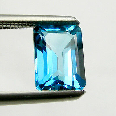 Emerald 6x4mm 7x5mm Cut Shape Swiss Blue Topaz Loose Natural Gemstone