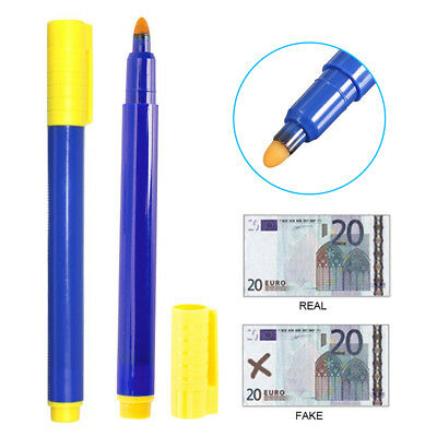 10PCS Counterfeit Forged Fake Detector Marker Bank Note Checker Money Tester Pen