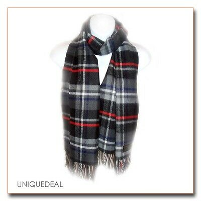 "New Fashion D&Y Tartan Plaid Winter ""SOFTER THAN CASHMERE?""Scarf / Black"