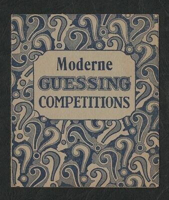e2546)  INTERESTING VINTAGE QUIZ GAME  - MODERNE GUESSING COMPETITION